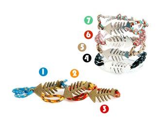 Fish Bone Jewelry, Fish Skeleton Bracelet, Fish Skeleton Jewelry. 2 mm