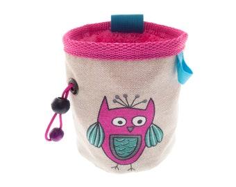 Girls Chalk Bag, Pink Small Rock Climbing and Bouldering Bucket Bag, Children's Size: S