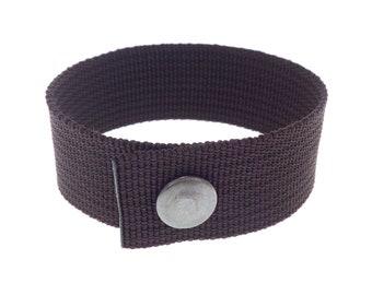 Wide Bracelet Cuff Design, Mens Womens Friendship Accessories, Elegant Survival Hand Jewelry. Unisex. 25 mm