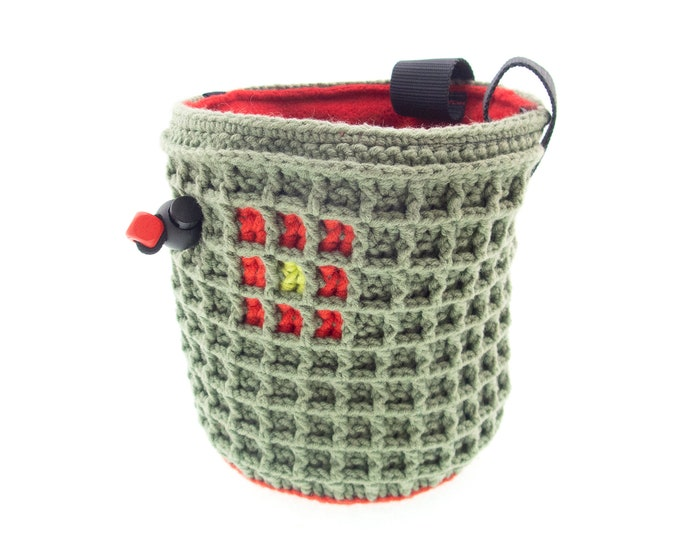 Cylinder Chalk Bag for Climbers. Unique Handmade Chalk Bags. Chalkbag. Handmade Chalkbag M Size