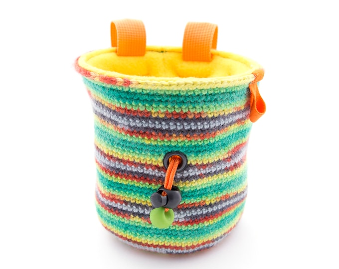 Sport Climbing Chalk Bag. Climbing Chalk Purse for Rock Climbing M Size