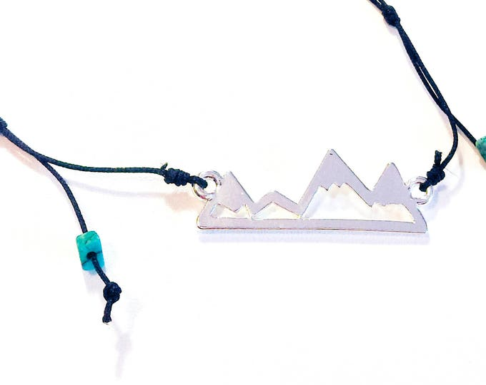 Mountain Necklace. Mountain Pendant. Rock Climbing Gifts. Rock Climbing Jewelry. Outdoor Gift. Mountain Jewelry. Gift For Climber. 0.8 mm