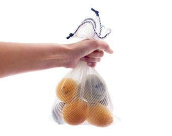 Produce Bag Mesh, Reusable Net Zero Waste Eco Friendly Veggie Vegetable Fruit Drawstring Bag