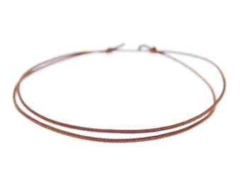 Simple Thin Bracelet Men. 0.8 mm