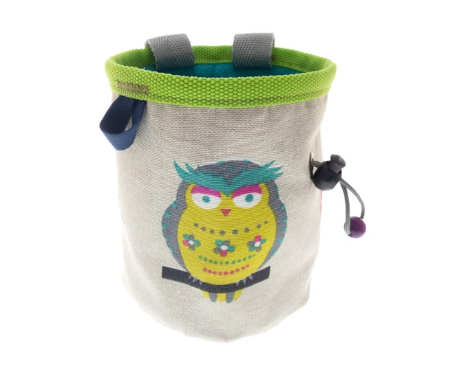 Climbing Accessories Gifts Chalk Bag, Cool Funny Christmas Presents for Rock Climbers, Unique Indoor Climb Gear. Size M