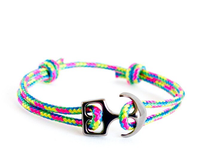 Anchor Bracelet Women, Anchor Bracelet Men. Anchor Bracelet Couples. Mens Rope String Anchor Clasp Gift. Men's Bracelet with Anchor for Men