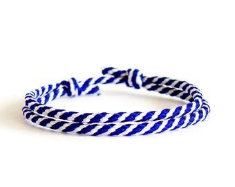Navy Jewelry, Navy Bracelet, Navy Rope Bracelet, Navy Mens Bracelet. 2 mm