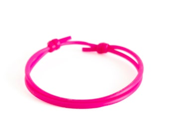 Cuff Bracelet Men, Cuff Bangle, Cuff Bracelet for Women Pink Adjustable Silicone Rope