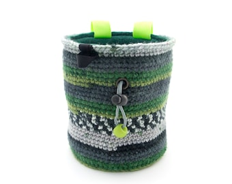 Cool Chalk Bag Climbing Accessories. Climbing Pouch. Talk Pouch for Rock Climbing L size
