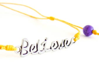 "Motivational Necklace, Motivational Jewelry, Mens Motivational Gifts With ""Believe"" Quote. Men Necklace"