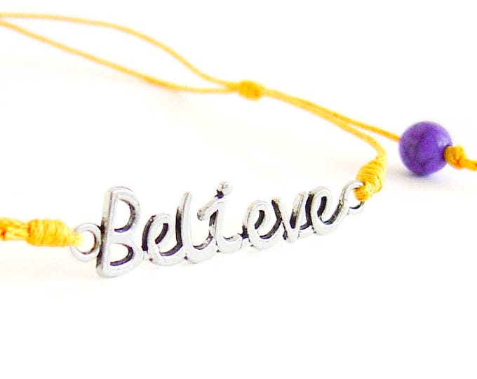 "Motivational Necklace, Motivational Jewelry, Mens Motivational Gifts With ""Believe"" Quote. Men Necklace. 1 mm"