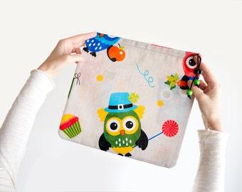 Shoe Bag. Climbing Shoes Bag. Drawstring Bag. Owls Eco Friendly Sport Drawstring Pouch