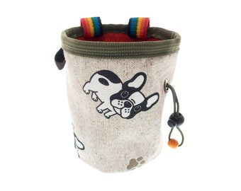Cool Chalk Bag for Climbing, Rock Climbing Outdoor Gear Bouldering Bucket, Gym Bag with Dogs Nadamlada. Size M