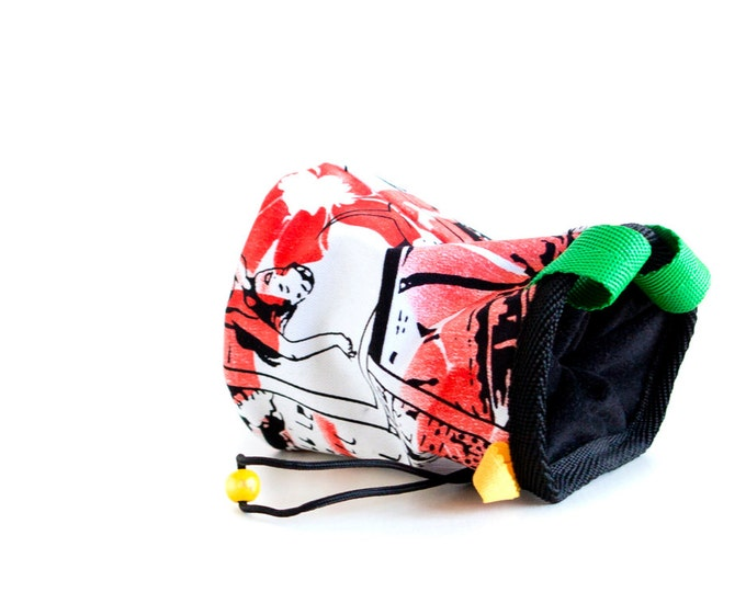 Best Chalk Bag for Climbing Chalkbag. Rock Climbing Bag for Out and Indoor Climbing. Unique Chalk Bag. Rock Climbing Gifts. M size