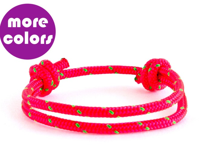 Simple Bracelet, Rope Bracelet, Paracord Bracelet, Adjustable Bracelet. 3 mm