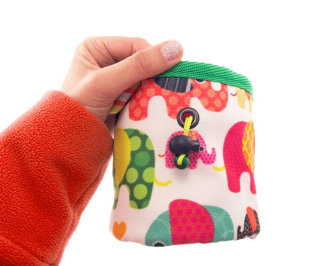 Kids Rock Climbing Gear Chalk Bag, Childs Childrens Toddler Equipment. S Size
