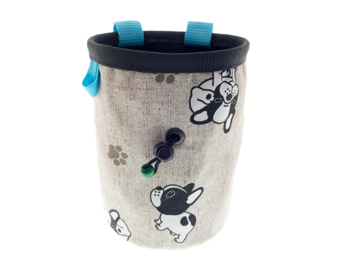 Bouldering Chalk Bag, Best Cool Bouldering Bag with Dogs, Boulder Bucket Climbing Gift Nadamlada. XL Size