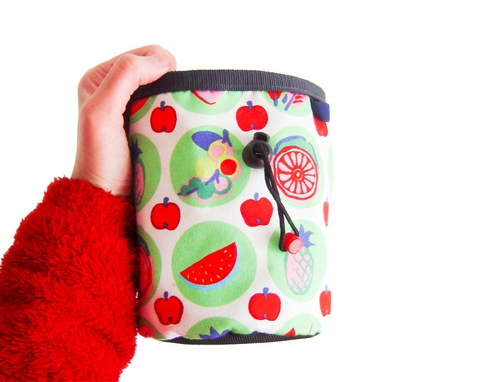 Rock Climbing Chalk Bag. Cute Chalk Bag for Bouldergym. Chalk Bag Climbing. L size
