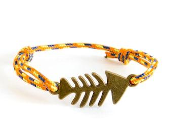 Summer Bracelet, Summer Jewelry, Best Summer Bracelets Jewelry Rope and Fish Bone