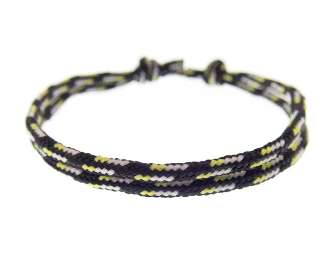 Womens Slider Bracelet Cord, Mens Sliding Knot Adjustable Friendship Bangle. 2 mm
