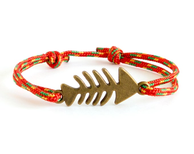 Beach Bracelet Men, Beach Jewelry, Beach Bracelets String and Fish. 2 mm