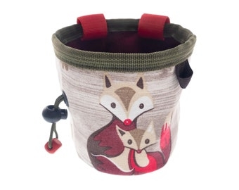 Chalk Pouch for Climbing Gym For Kids, Chalk Bag Gear for Sport and Outdoor Rock Climbing with Animals. S Size