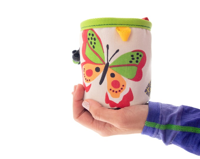 Rock Climbing Gear Kids Chalk Bag, Cute Bouldering Equipment Hardware Boys Chalk Bag. S Size