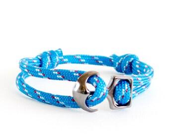 Anchor Bracelet Couples Jewelry. Mens Bracelet. Anchor Bracelet Couples Love Handmade Fashion Jewelry for Couples Anchor Link. 4 mm