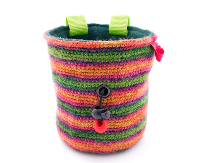 Bouldering Chalk Bag, Chalk Bucket Women, Rock Climbing Chalk bag Climbing, Size M