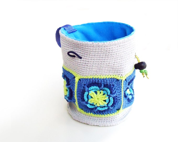 Bouldering Chalk Bucket, Chalkbag. Climbing Chalk Bag for Women. Crochet Chalkbag XL