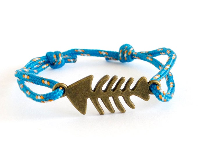 Fish Bracelet, Fish Jewelry Men, Fish Friendship Bracelet, Fisherman Gift Ideas. 2 mm