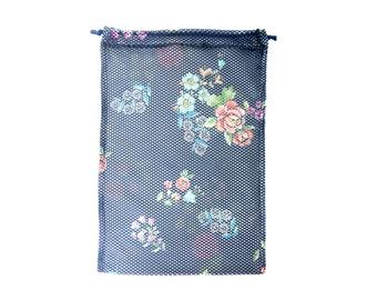 Produce Bag Reusable, Fruit Vegetable Printed Eco Cloth Mesh Net Washable Bag
