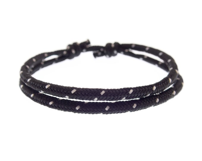 Adjustable Bracelet Men Women, Sliding Knot Friendship String Wristband, Mens Cord Slip Knot Bracelet. 2 mm