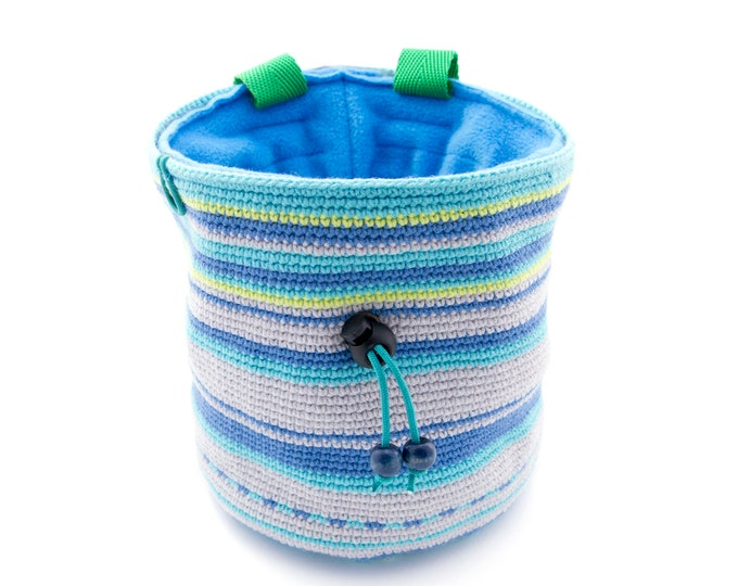 Chalk Bucket for Bouldering. Super Large Chalk Bag XXL Crochet Bucket for Climbing For Big Hands