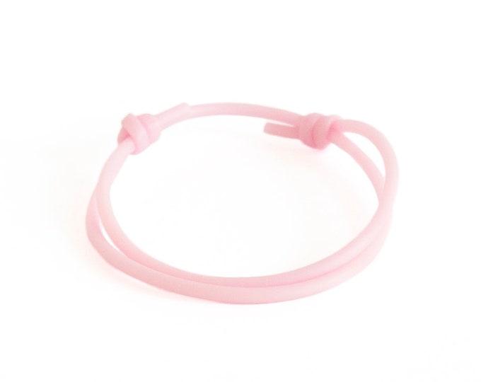 Pink Bracelets for Women. Pink Bracelet Hawaii, Silicone Bracelet Men. Adjustable Rope Bracelet. 2 mm