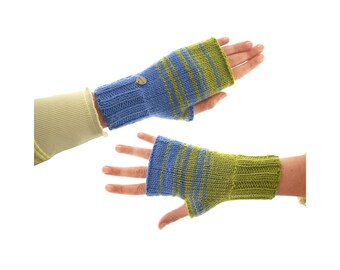 Knitted Gloves and Mittens, Handmade Ladies Winter Mitts, Different Fingerless Cashmere Mittens Hand Knit