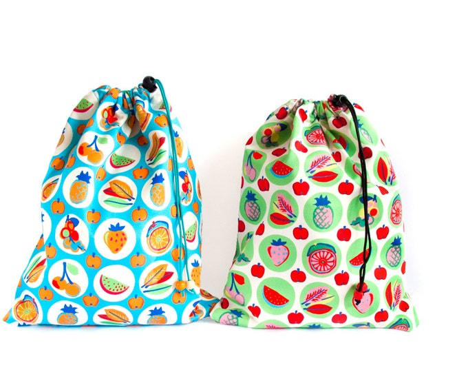 Shoe Bag for Rock Climbing Shoes.  Drawstring Bag. Drawstring Pouch