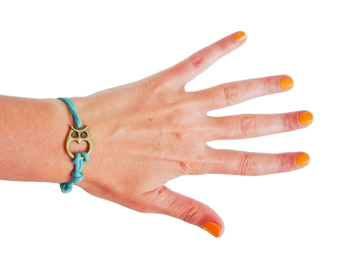 Custom Bracelet, Hipster Bracelet, Nautical Bracelet, Owl Jewelry