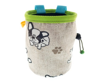 Chalk Bag Cute, Animals Dogs Design Climbing Chalk Bag for Rock Climbing Ladies Mens Girl Guy. Size M