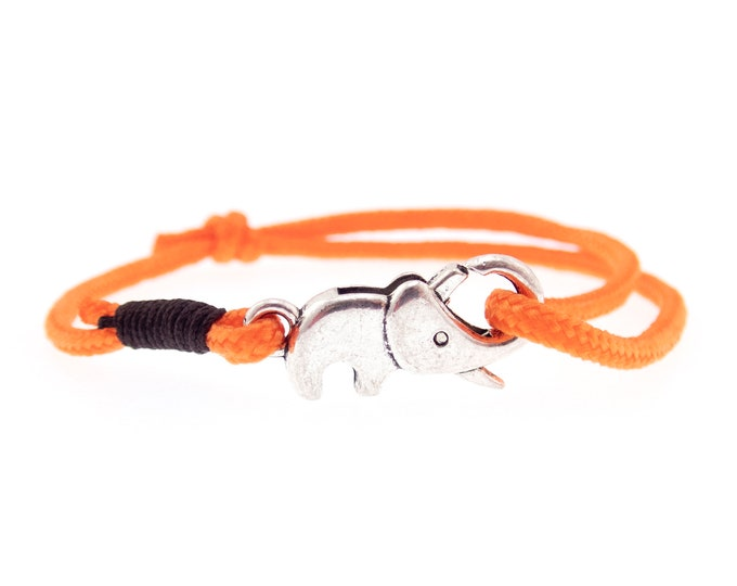 Men's Bracelet Elephant Bracelet, Adjustable Rope. 2 mm