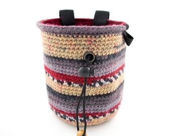 Handmade Rock Climbing Chalk Bag L Size