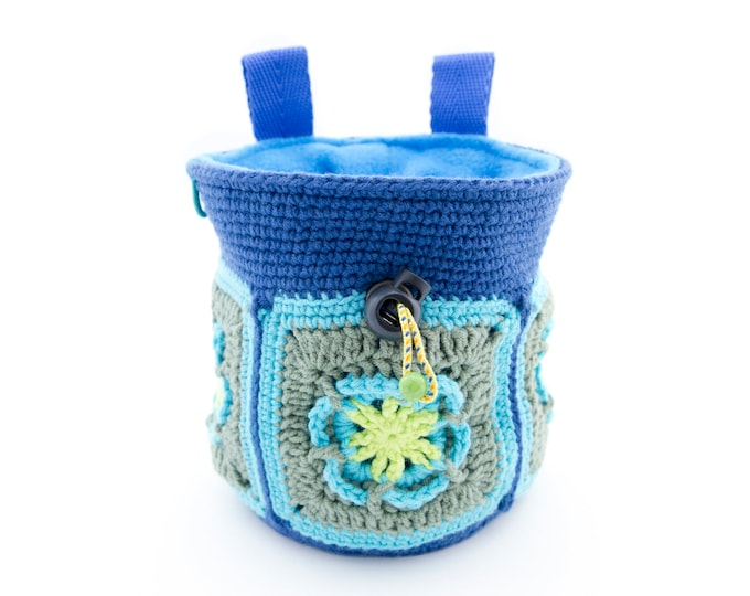 Women's Chalk Bag Handmade for Rock Climbing. Big Chalk Bag. Ladies Chalk Bag. Woman Climber Gifts L