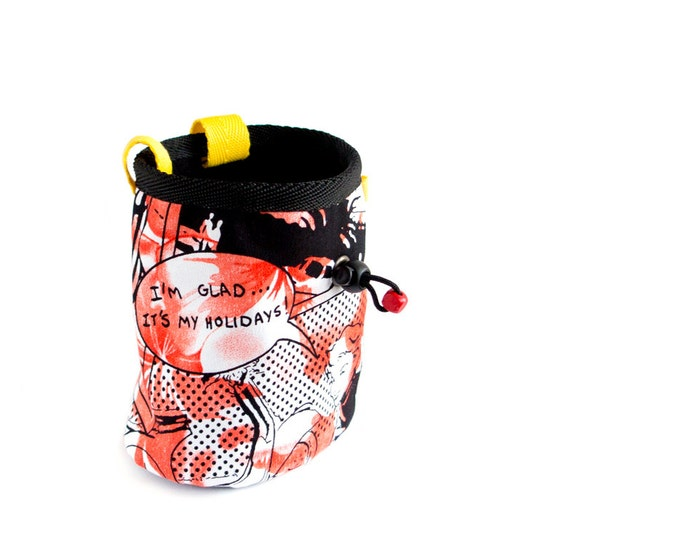 Big Chalk Bag. Chalk Bag for Bouldering and Rock Climbing. Large Chalk Bag. Ergonomic Design, Handmade, Size L