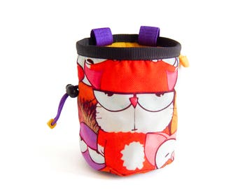 Chalk Bag. Cool Chalk Bag for Rock Climbing. Handmade Chalk Bag, L Size