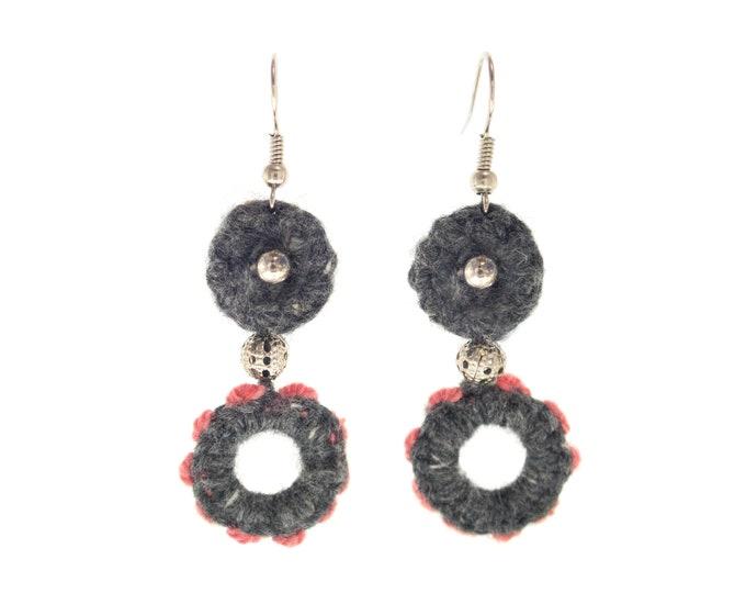 Earrings Jewelry, Yarn Homemade Cute Designs with Thread, Cool Aesthetic Dangle Handmade Boho Earrings
