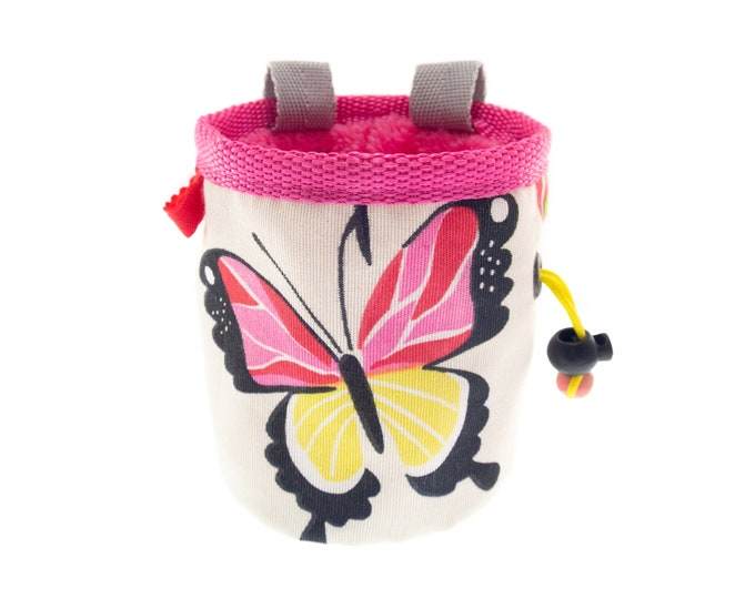 Childrens Climbing Chalk Bag, Kids Funny Equipment Chalk Pouch Pink. S Size