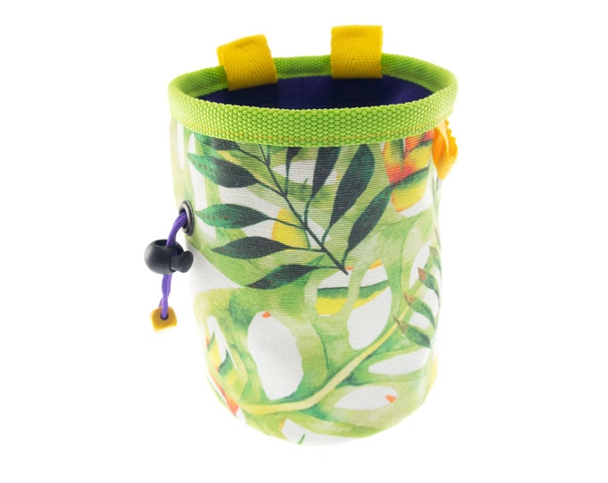Rock Climbing Gift Ideas Chalk Bag, Presents for Boulderers, Large Ladies Chalkbag, L Size
