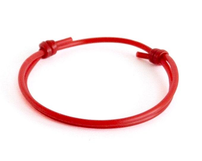 Tibetan Bracelet Men, Tibetan Bracelet Prayer, Tibetan Bracelet Rope With Knot For Men, Women, Red Braided Lucky Rope Of Silicone. 2 mm