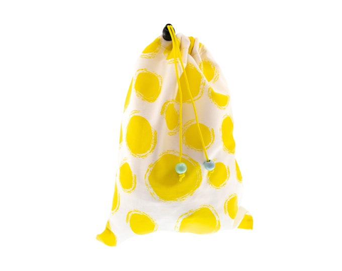 Drawstring Pouch. Fabric Gift Bags. Drawstring Bag, Toy Storage, Library Bag H30/W23.5 cm