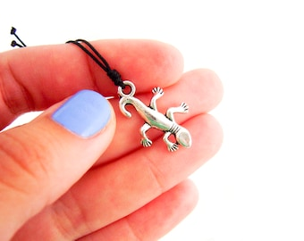 Mens Necklace Pendant from Wives Lizard Necklace. Lizard Pendant. Lizard Jewelry. Mens Necklace Surf. 0.8 mm